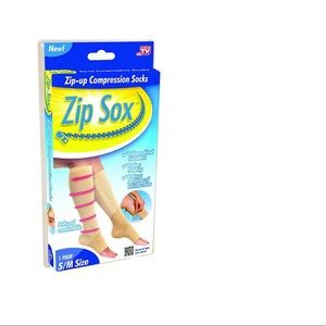 Zip Sox Compression Sock, 2 peaces (One Pair) S/M